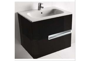 Тумба подвесная ROCA Victoria Nord Black Edition 80 см, чёрная, ZRU9000097