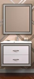 OPADIRIS тумба+зеркало Карат 80 (серебро)