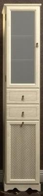 Пенал напольный OPADIRIS Тибет 404*1988*380, петли слева, без бельевой корзины, цвет белый