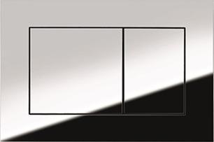 Смывная клавиша TECEnow 9240401, 2-х режимная, пластик, хром глянцевый