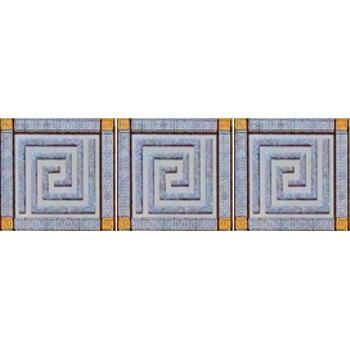 Пальмира Комплект стеклянных вставок (3шт/компл.) серый 5,5х5,5