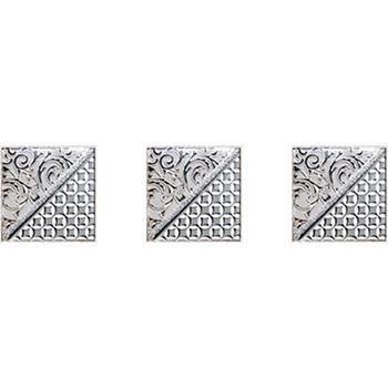 Берген Комплект стеклянных вставок (3шт/компл.) серый 4,5х4,5