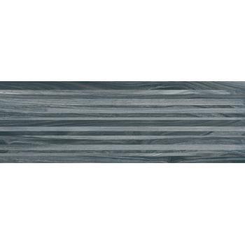 Zen Плитка настенная полоски чёрный 60034 20х60