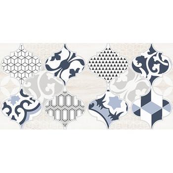 Мореска Декор 1 синий 1641-8629 20х40
