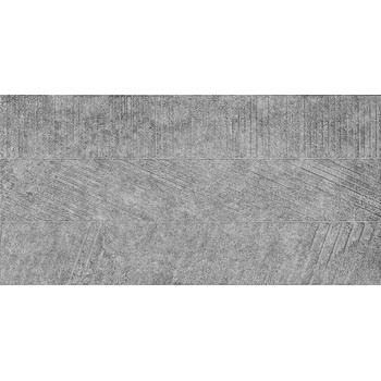 Бруклин 1 тип 1 Керамогранит серый рельеф 30х60