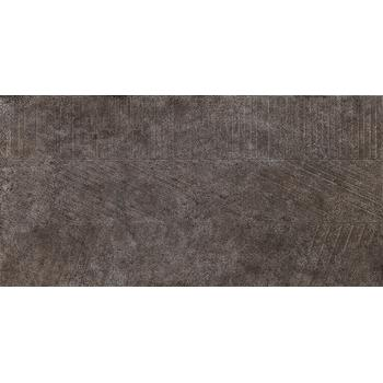 Бруклин 4 тип 1 Керамогранит тёмно-серый рельеф 30х60