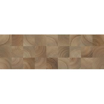 Шиен 4Д Плитка настенная декор коричневый, структура 25х75