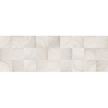 Шиен 7Д Плитка настенная декор белый, структура 25х75