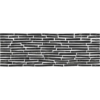 Монако 5Д Плитка настенная декор черные полоски 25х75