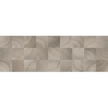 Шиен 2Д Плитка настенная декор серый, структура 25х75