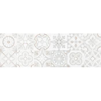 Сонора 7Д Плитка настенная декор серый пэчворк 25х75