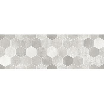 Гексацемент Плитка настенная декор серая 1064-0294 20х60