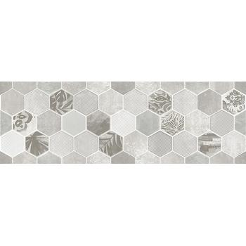 Гексацемент Декор светло-серый 1664-0197 20х60