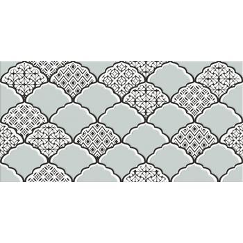 Эллен Декор бело-бирюзовый 1641-8646 19,8х39,8