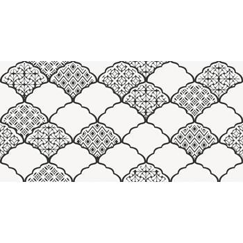 Эллен Декор черно-белый 1641-8647 19,8х39,8